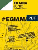 Folleto #EgiaMapa, un recorrido para descubrir y conocer Egia el 15 de junio