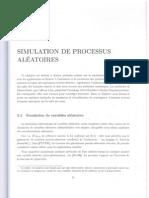 Simulations de Processus Aleatoires