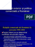 Comertul Exterior Si Politica Comerciala a Romaniei