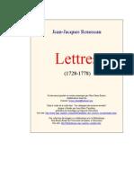 Rousseau Lettres