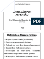 Aspersão - conceitos e dimensionamento 2011-1