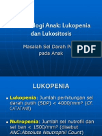 Hematologi Anak Lukopenia & Lukositosis (2)