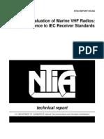 Evaluation of Marine VHF Radios