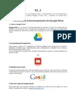 Tutorial Para El Funcionamiento de Google Drive
