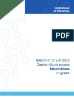PRUEBAS SABER MATEMÁTICAS 5 2012