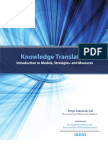 Knowledge Translation: Introduction to Models, Strategies, and Measures