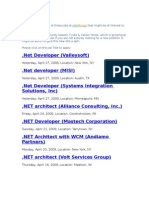 Dot Net Jobs From Jobs Bridge