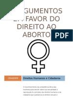 Argumentos Em Favor Do Direito Ao Aborto