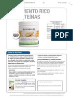 Herbalife.- Suplemento de Proteínas Personalizado F3