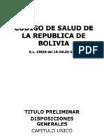Codigo de Salud de Bolivia