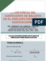 Importancia Del Coeficiente de Balasto