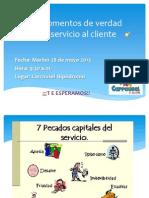 Los Momentos de Verdad en Servicio Al Cliente Al Cliente Interno y Externo