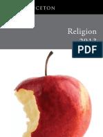 Religion Catalog 2013