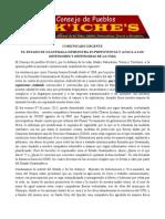 Comunicado Urgente  del Consejo de Pueblos K`iche`s
