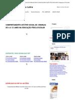 COMPORTAMENTO AFETIVO SOCIAL DE CRIANÇAS DE 6 A 12 ANOS NA EDUCAÇÃO FÍSICA ESCOLAR _ Pedagogia ao Pé da Letra