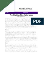 The Shaktis of the Nakshatras