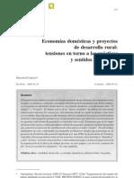 Carenzo 2006. Economías domésticas y proyectos de desarrollo rural.  tensiones en torno a las prácticas y sentidos del trabajo