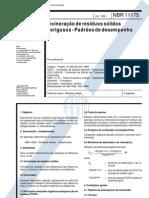 ABNT - NBR - 11175 - INCINERAÇÃO DE RESIDUOS SOLIDOS PERIGOSOS