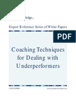 Dealing w Underperformers