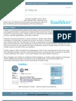 360i Report on Twitter (April 2009)