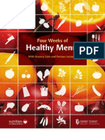 Four Weeks of Healthy Menus