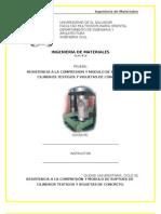 16- RESISTENCIA A LA COMPRESIÓN Y MODULO DE RUPTURA DE CILINDROS TESTIGOS Y VIGUETAS DE CONCRETO.doc