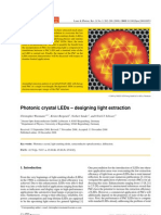 Photonic Crystal LEDs- Designing Light Extraction
