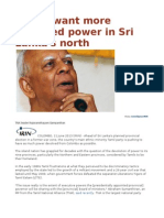 Tamils Want More Devolved Power in Sri Lanka's North