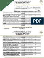 Edital Nº 0272013 Resultado Final Projeto de Extensão