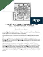 e Leon Battista Alberti Il Misterioso Autore