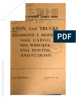 Tm 9-811 DIAMOND T CARGO, PONTON, WRECKER, DUMP