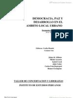 Democracia Paz Y Desarrollo En El Ámbito Local Urbano