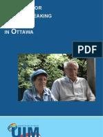 Services for Italian Speaking Seniors in Ottawa / Servizi per anziani Italiani di Ottawa (versione inglese)