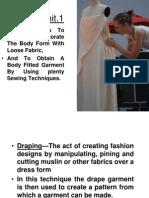 Draping of fabric
