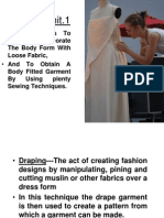 Draping of fabric