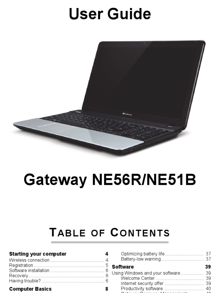 gateway netbook user manual