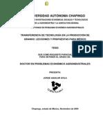 Aguilar. 2004. TRANSFERENCIA DE TECNOLOGÍA EN LA PRODUCCIÓN DE GRANOS - LECCIONES Y PROPUESTAS PARA MÉXICO.