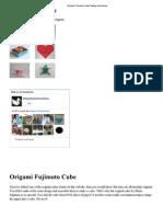 Origami Fujimoto Cube Folding Instructions