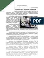 10/06/13 Germán Tenorio Vasconcelos  Oaxaca Modelo a Seguir en El Servicio de Telemedicina