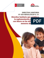 Directiva 050 - MINSA sobre suplementacion hierro.pdf