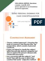 Using Personal Dilemmas for Case Conceptualization_Guillem Feixas