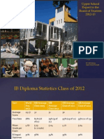 Academic Achievement Report  2012-2013 International School of Belgrade, Serbia
