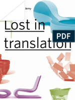 Domus Academy - Lost in Translation