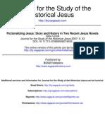 Crook Z.- Fictionalizing Jesus, Story and History in Two Recent Jesus Novels (JSHJ 2007)