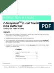 Z-CompetentTM E. Coli Transformation