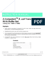 Z-CompetentTM E. Coli Transformation