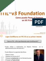 Certif. en ITIL V3 Fundation