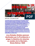 Noticias Uruguayas miércoles 12 de junio del 2013