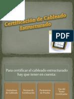 Certificación de Cableado Estructurado