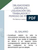 SALARIO Y PRESTACIONES SOCIALES y LIQUIDACION DEL TRABAJADOR.ppt